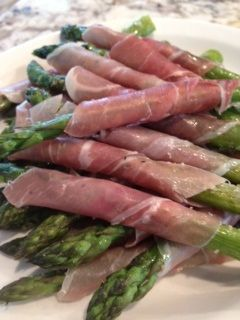 Roasted Prosciutto-Wrapped Parmesan Asparagus