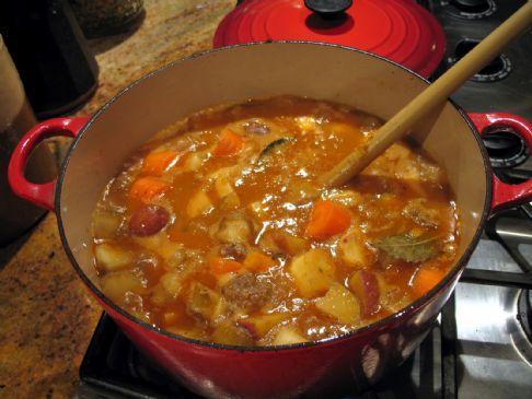 Turkey cabbage stew recipe sparkrecipes - Cabbage stew recipes ...