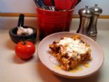 Savory pasta bake w/lean ground beef