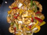 SPICY SHRIMP AND PEPPER STIR FRY