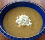 Parsnip Vegetable Soup w/ Goat cheese