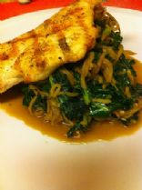 HCG Phase 2 - Grilled Chicken with Apple Noodles and Kale