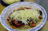 whole wheat Pasta with kielbasa sausage