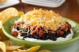 Layered Black Bean Taco Dip