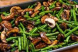 LORKAT's Roasted Green Beans & Mushrooms