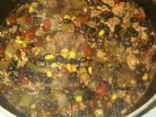 Mel's ground turkey black bean & corn chili