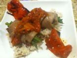 M's Roasted Pepper Veal Roll ups