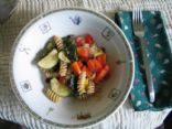 Fresh Summer Vegetables Stir Fry with Rotini