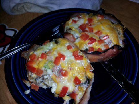 Baked Egg Turkey Ham Cups Recipe Sparkrecipes