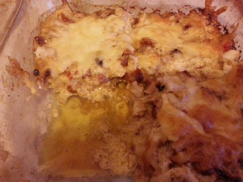 keto Low Carb Hot Tuscan Chicken casserole #ketolicious
