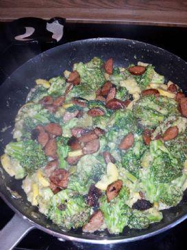 Sausage and veggie garlic saute