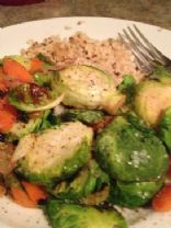 Brussel Sprouts with Carrots, Shallots & Currants