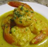 Cajun Curry Prawns
