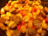 Gnocchis and Sausages in Curry Sauce