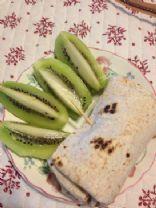 Ham Egg and Cheese Breakfast Burrito