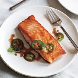 Seared Salmon with Jalapeño Ponzu **High Protein/Low Carb