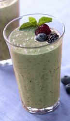 Berry Green Protein Smoothie