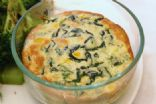 Spinach, Corn, and Polenta Souffle