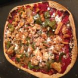 The 350 Cal Feel Full 10 x 7.5 in. Lean, Thin Crust Ground Turkey & Bell Pepper Pizza!