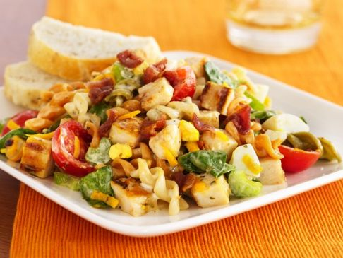 Grilled Honey Mustard Chicken Pasta Salad