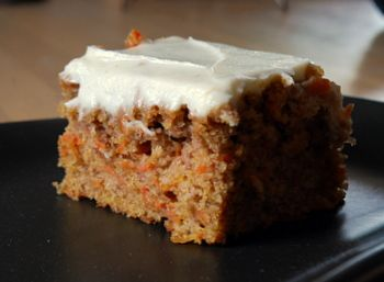 Reduced-Fat Carrot Cake w/Cream Cheese Frosting