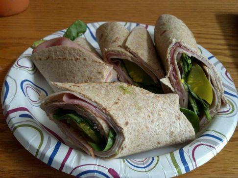 Ham Turkey Spinach Avocado Wrap Recipe Sparkrecipes