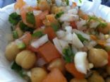 Spicy Garbanzo beans Salad