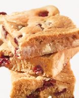 Skinny Cranberry White Chocolate Blondies