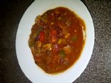 Ground Chicken Breast Chili (low cal & carb, high protein)