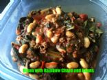 Bison with Chard and Beans