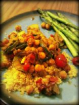 Curried Chickpeas Zucchini Couscous