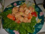 Apple Salad with Blackberry Peach Yogurt Vinaigrette