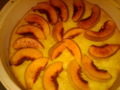 Fresh Peach Genoise