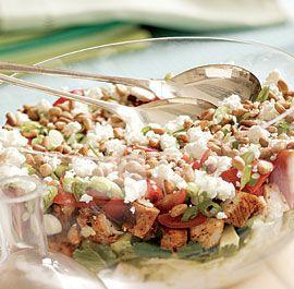 Seven-Layer Grilled Southwestern Chicken Salad
