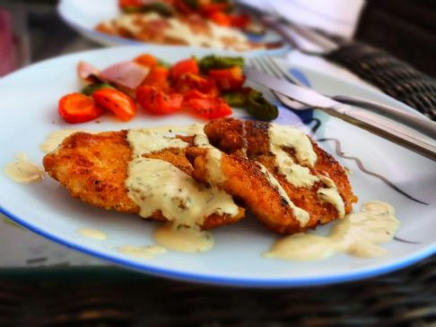Chicken Schnitzel with Mustard Sauce