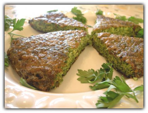 Persian Greens, Herbs and Eggs - Kookoo Sabzee