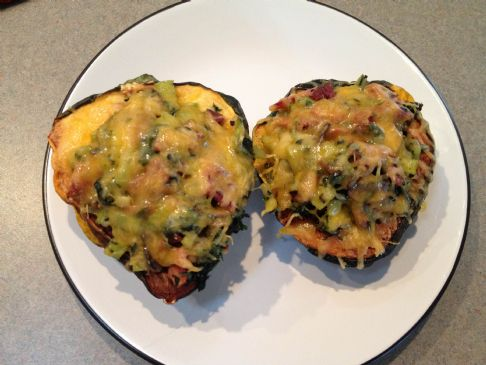 Cheesy Bacon Acorn Squash