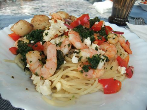 Roasted garlicky shrimp