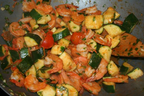 Lime Cilantro Zucchini Amp Shrimp Recipe Sparkrecipes