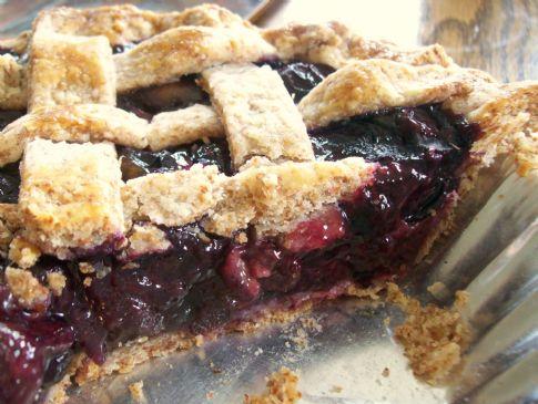 Honeyed Date Blueberry Pie