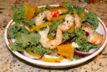 Rainbow Kale Salad w. Steam Grilled Shrimp