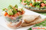 Layered Mexican Dip with Baked Lime Chips