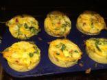Mini breakfast quiches
