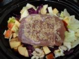 MAKEOVER: Slow Cooker Cabbage with Apples and Pork Roast (by JUNEWORM)