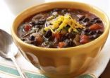 Spicy (or not*) Black Bean** Chili