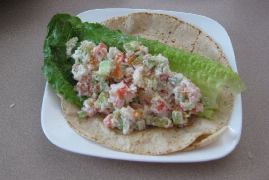Imitation Crab Salad Wrap