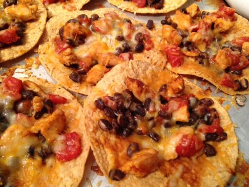Jen's Easy Black Bean and Chicken Tostadas