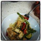 Vegan Stir Fried Tofu w/ Steamed Veggies & Quinoa