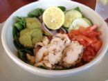Grilled Chicken Hummus Bowl