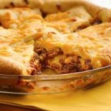 Cheeseburger Crescent Pie